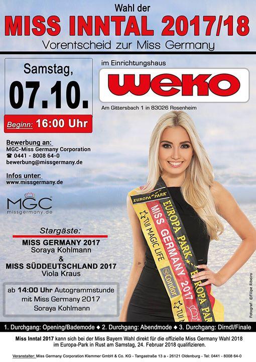 miss inntal 2017 18 miss germany als stargast at weko wohnen rosenheim. Black Bedroom Furniture Sets. Home Design Ideas