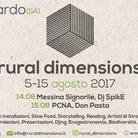Rural Dimensions II 05 -15 agosto II Bellosguardo (SA)