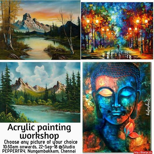 Personalized Acrylic painting workshop