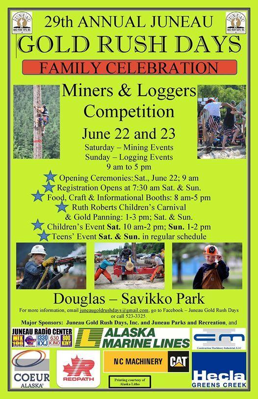 Juneau Gold Rush Days - 2019 at Savikko Park, Juneau