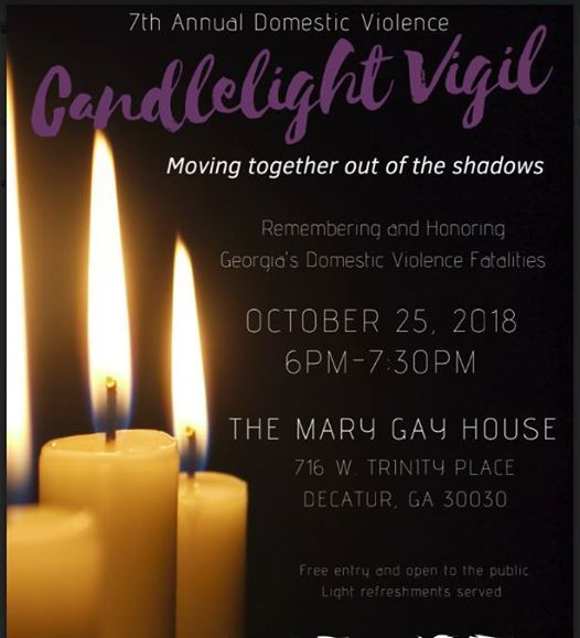 2018 Candlelight Vigil remembering domestic violence