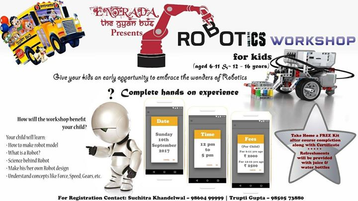 Robotics Workshop For Kids By Entrada The Gyan Bus At Flat7