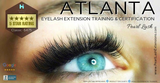 Volume Eyelash Extension Training Hosted by Pearl Lash Atlanta GA