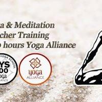 200hrs Yoga &amp Meditation Teacher Training - Yoga Alliance