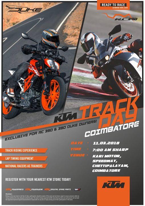 Coimbatore KTM Track Day