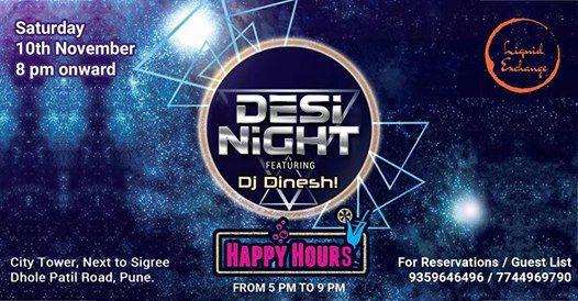 Desi Night featuring Dj Dinesh