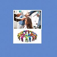 Working as part of a salon team. &quotTeam Spirit&quot with Orla Leydon