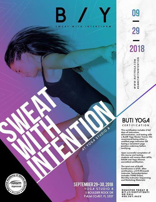 Buti Yoga Certification At Yogastudio8 Florida