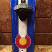 Colorado Wood Flag Bottle Opener PM Class