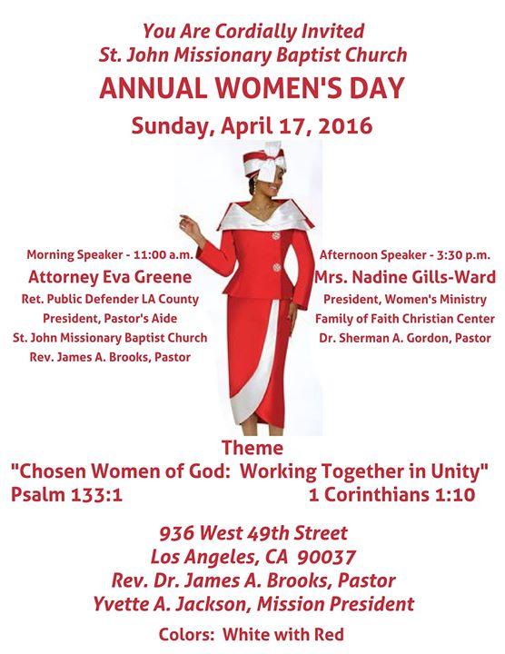 Baptist Church Womens Day Themes | just b.CAUSE
