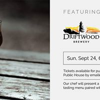 5 Course Driftwood Brewery Pairing Dinner