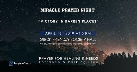 Miracle Prayer Night at Girls Friendly Society Colombo, Colombo