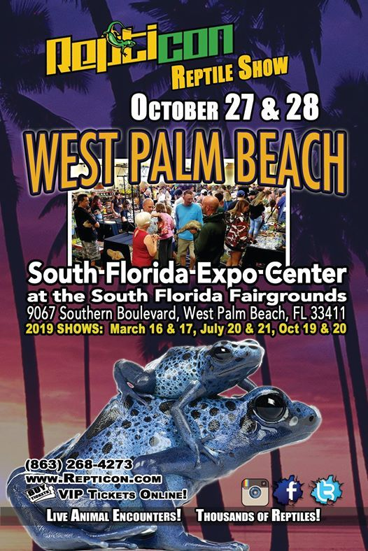 Repticon West Palm Beach Reptile Show at Expo Center at the South