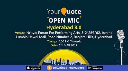 YourQuote Open Mic Hyderabad 8.0