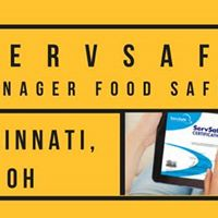 Cincinnati OH ServSafe Manager Food Safety Class and Exam