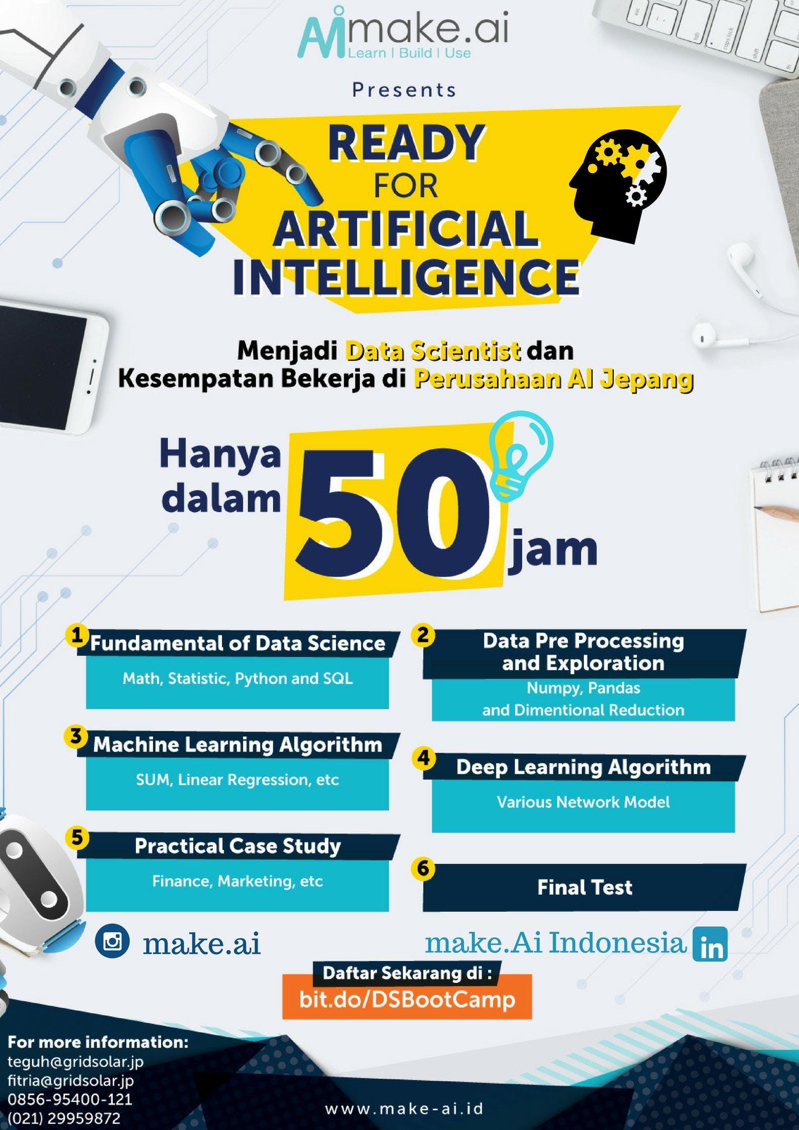[Paid Bootcamp] - Make.AI Data Science Bootcamp Batch.4