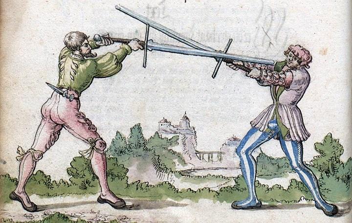 Langes Schwert (Erlangen) Beginn der Lehre - Fechten im Vor