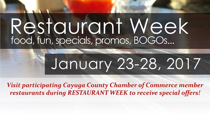 Cayuga County Chamber Of Commerce Restaurant Week