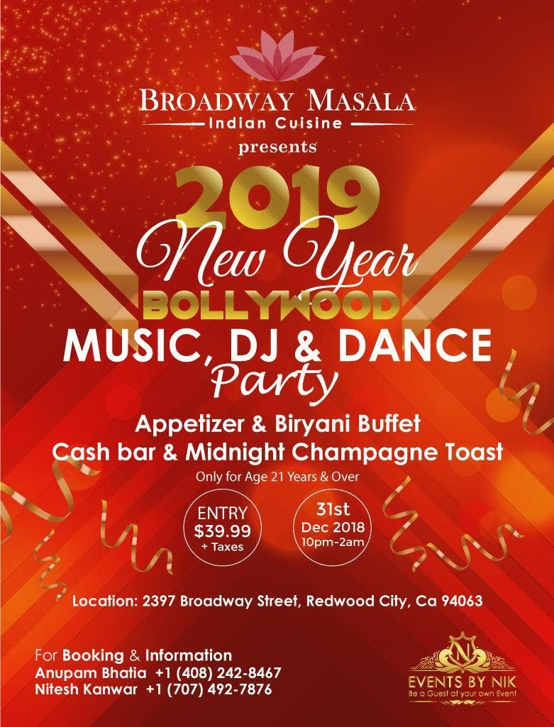 New Hindi Movei 2018 2019 Bolliwood: 2019 NEW YEARS EVE PARTY WITH BOLLYWOOD MUSIC, DJ, DANCE