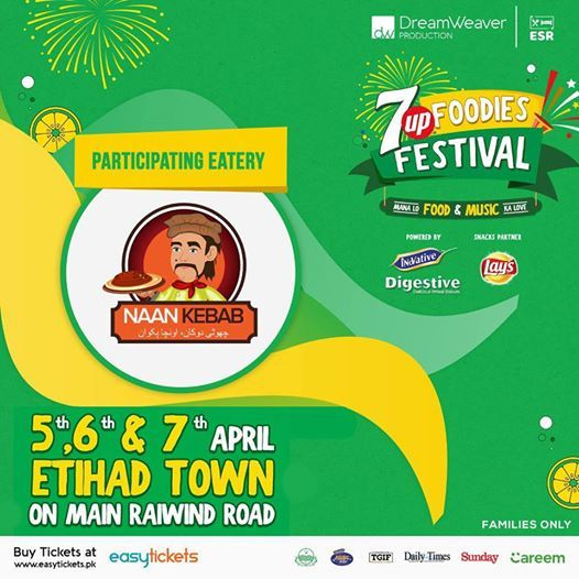 Naan Kebab at 7UP Foodies Festival 2019