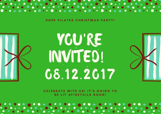 Lets Get Elfed Up Hope Pilates Christmas Party