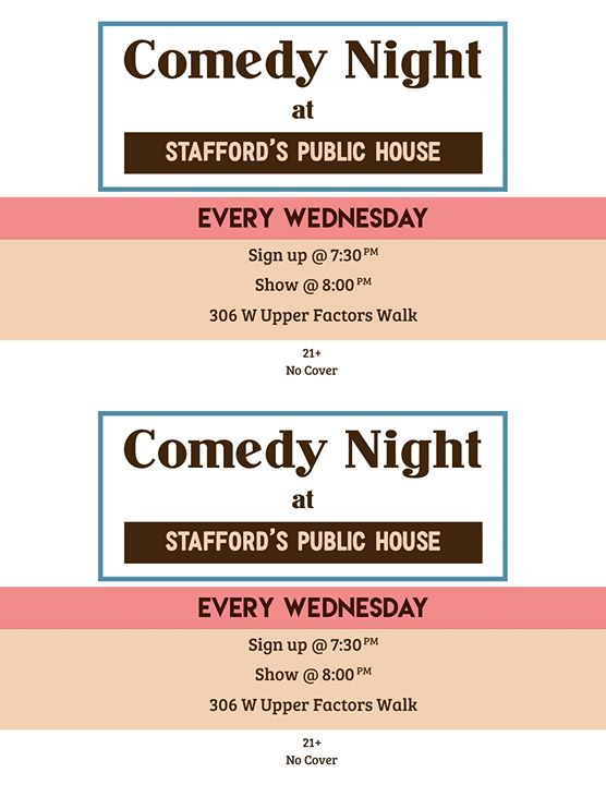 Comedy Night at Staffords Public House