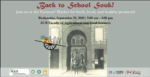 Back to School Farmers Market