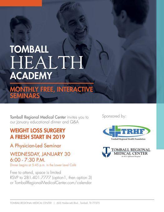 Weight Loss Surgery Seminar At Tomball Regional Medical Center605