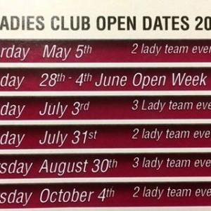 Ladies Opens 2018