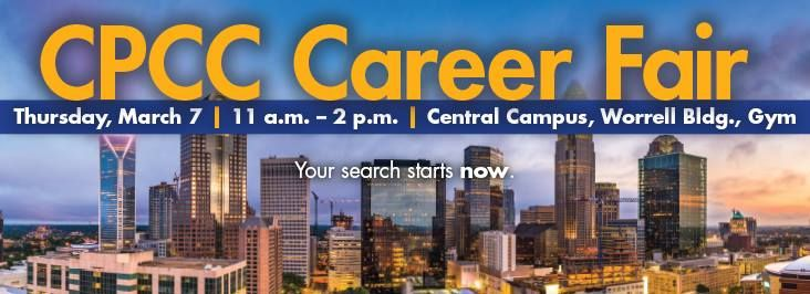 Cpcc Main Campus Map.Cpcc Career Fair At Cpcc Central Campus1201 Elizabeth Ave Charlotte