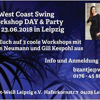 West Coast Swing Workshop DAY &amp Party am 23.06.2018