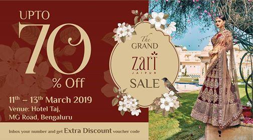 The Grand Zari Exh Cum Sale Bengaluru - 11th - 13th Mar
