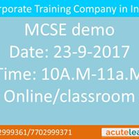 MCSE demo-Acutelearn Technologies