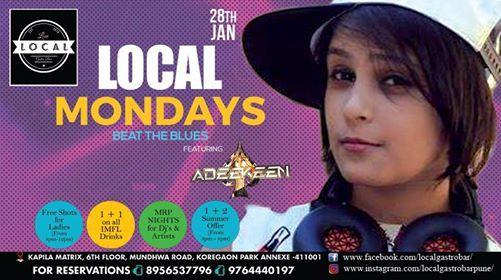 Local Mondays - Beat The Blues - DJ Adeekeen