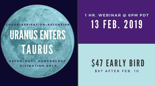 Astrology Numerology Webinar: Uranus Enters Taurus at Online
