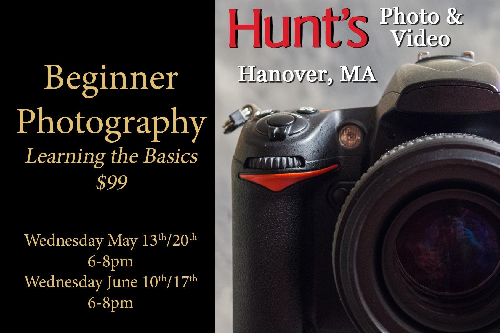 Beginner Photography- Hanover MA Only