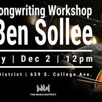 Cello &amp Songwriting Workshop with Ben Sollee
