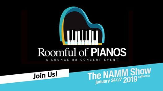 Roomful of Pianos at The 2019 NAMM Show