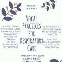 Vocal Practices for Respiratory Care