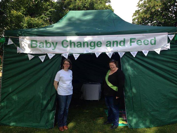 NCT Baby Change and Feed Tent & NCT Baby Change and Feed Tent at Roker Park Sunderland