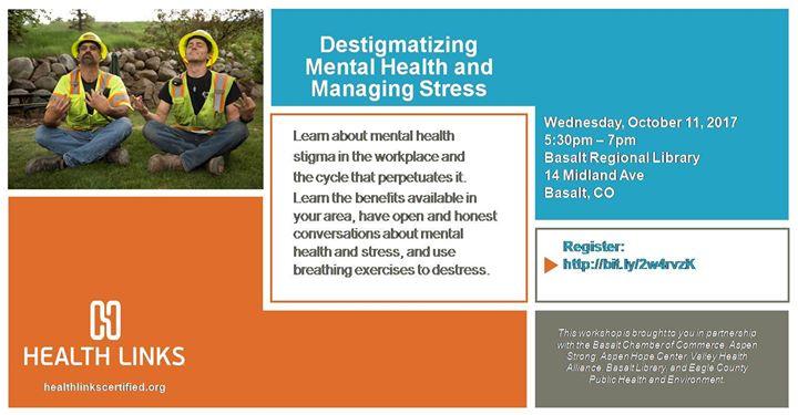 Destigmatizing Mental Health And Managing Stress At Basalt Regional
