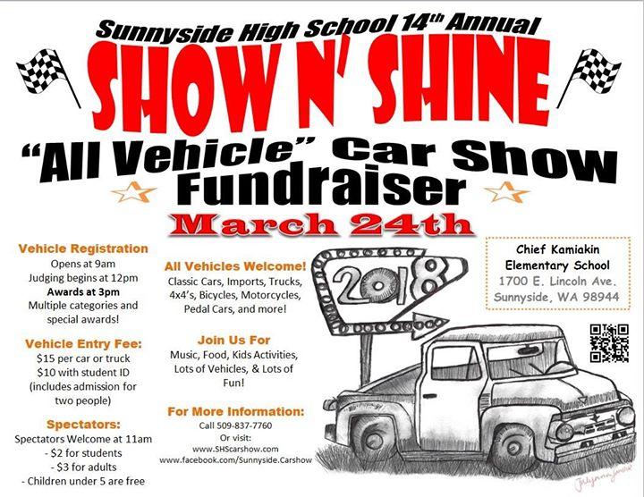 Sunnyside HS Th Annual Car Show Fundraiser Sunnyside - Fun car show award categories