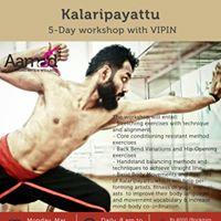 Kalaripayattu- 5 days workshop with Vipin