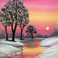 Paint Nite - Snowfall at Amber Creek