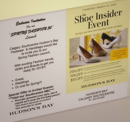 Shoe Gala-Spring Fashion 50 at Hudsons Bay Southcentre