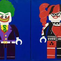 July 28th Joker and Harley Quinn Creativity &amp Canvas