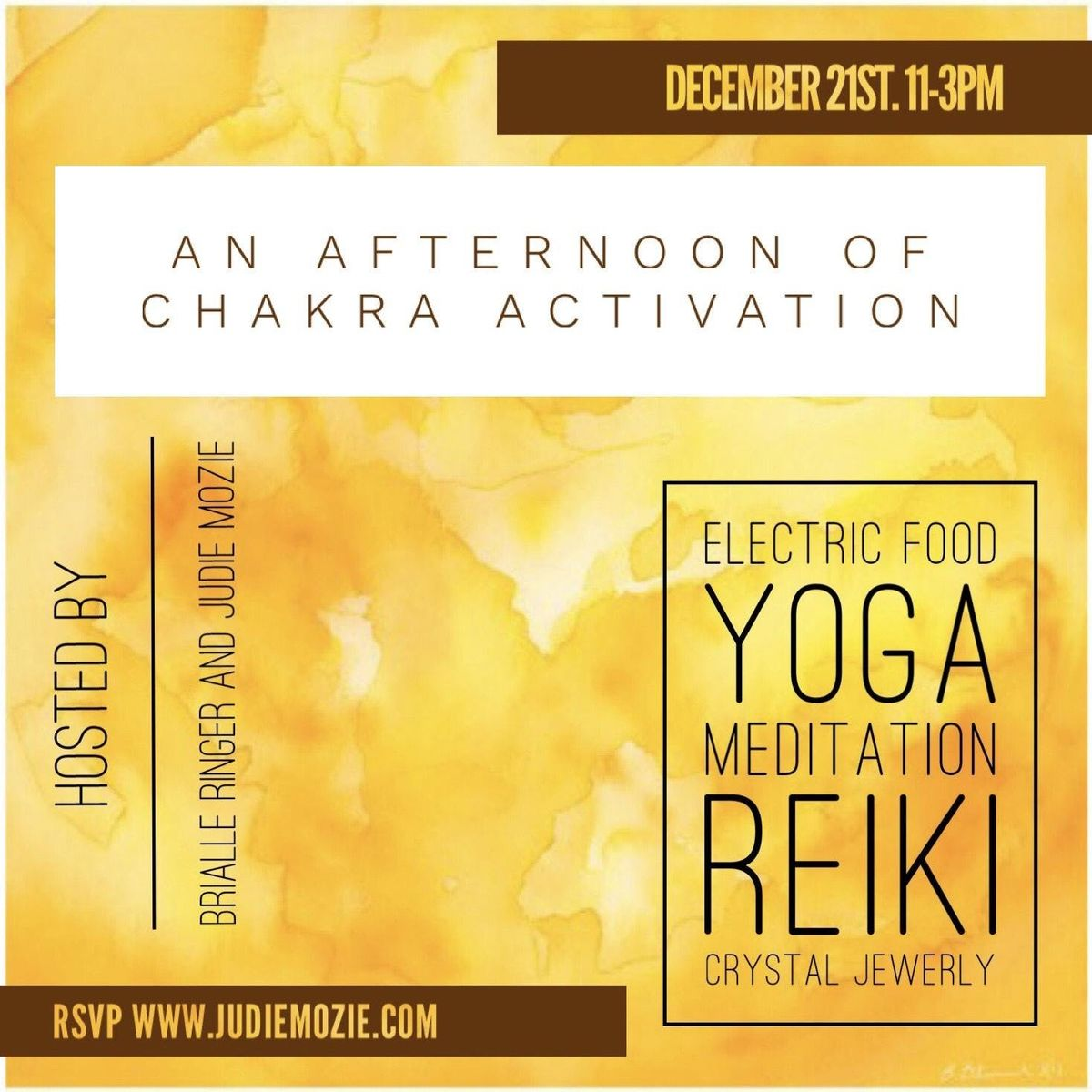 An Afternoon of Chakra Activation