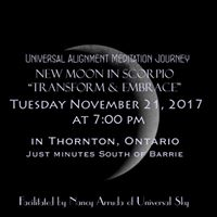 New Moon in Scorpio Meditation Journey - Thornton
