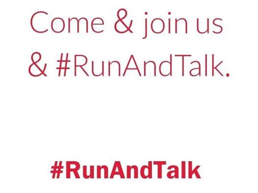 Image result for #runandtalk logo