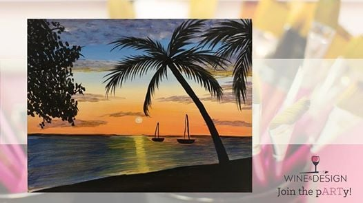 Jamaican Sunset Byob Painting Class At Wine Design Greenville